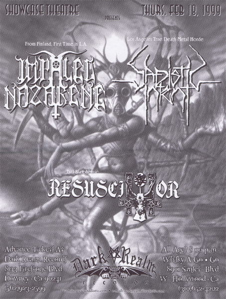 SADISTIC INTENT Gig flyer